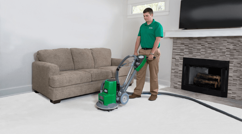 Hot Carbonating Extraction Carpet Cleaning